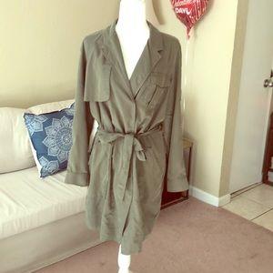 Trench coat button dress by banana republic